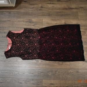 Lace Overlay Black Dress